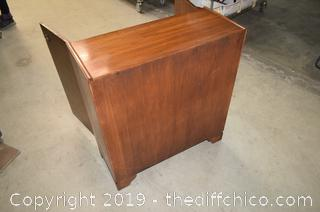 Oriental Cabinet w/Carved Doors w/Adjustable Shelves