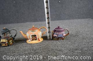 4 Home Town Collectible Tea Pots