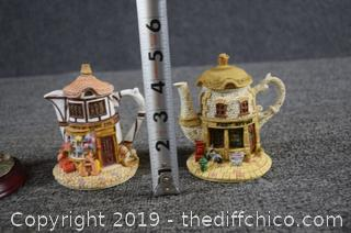 3 Home Town Collectible Tea Pots
