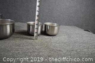 5 Stainless Steel Mixing Bowls