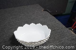 Milk Glass Dish