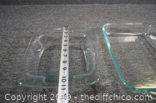 3 Pyrex Dishes