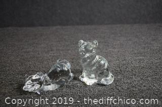 2 Fenton Glass Cats