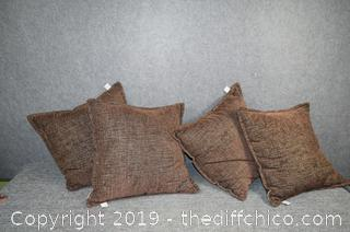 4 Brown Pillows