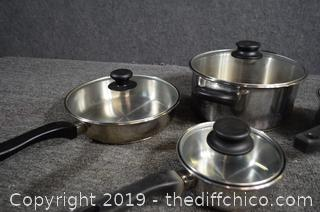 Mirro Pots and Pans w/Lids