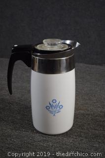 Cornflower Corning Ware Coffee Pot-see all pictures