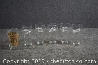 6 Coca Cola Glasses