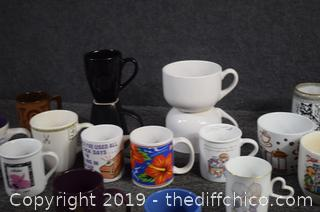 Lot of Coffee Cups-box not included
