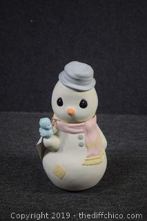 Precious Moments Collectible Snowman