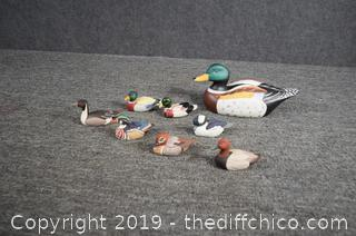 Lot of 9 Collectible Ducks