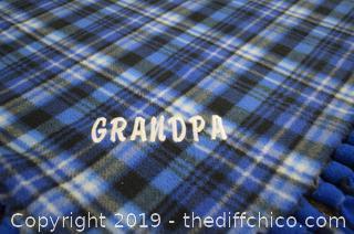 Grandpa Flannel Throw