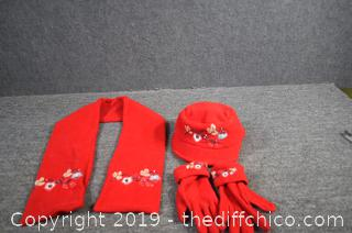 Matching Red Hat, Gloves and Scarf