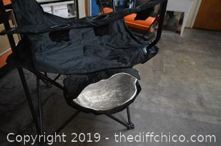 Very Tall and Large Folding Chair w/Carrying Case