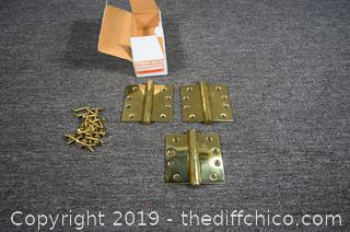 Sold Brass Hinges
