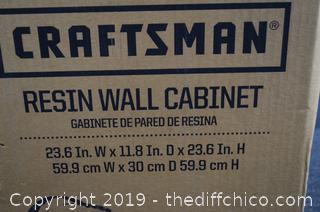 NIB Craftsman Resin Wall Cabinet