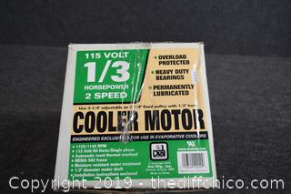 NIB 1/3hp 2 Speed Cooler Motor