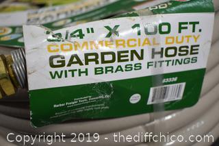 New 100ft x 3/4in Garden Hose