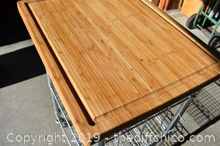 Rolling Bamboo Chopping Board / Rack