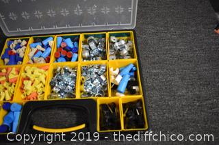 Storage Containers plus Electrical Parts