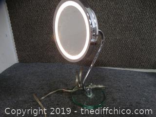 Light Up Adjustable Mirror