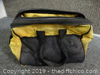 Zip Up Tool Bag With Contents