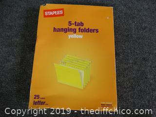 5 Tab Hanging Folders
