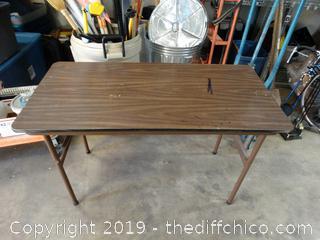 "Wood Folding Table 4' x 2' x 48"""