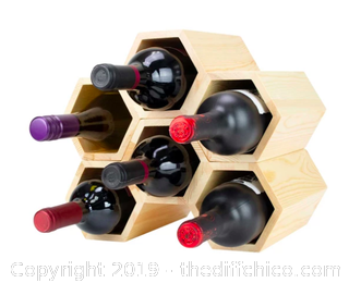 Atterstone Customizable Honeycomb Wine Rack: Holds 6 Bottles (J3)