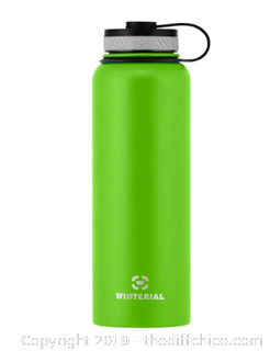 WINTERIAL 40OZ STAINLESS STEEL WATER BOTTLE - GREEN (J12)