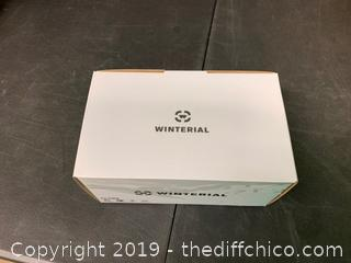 WINTERIAL GLOBE SKI AND SNOWBOARD GOGGLES WHITE (J16)