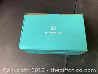 WINTERIAL FRAMELESS SKI & SNOWBOARD GOGGLES WITH CASE - TEAL (J17)