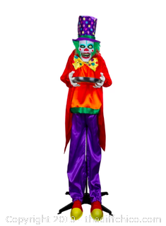 Holidayana Halloween Animatronics Clown with Candy Dish Prop -Sound Activated (J22)