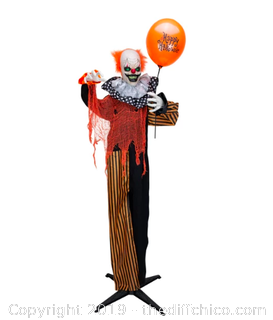 Holidayana Halloween Animatronics Sound-Activated Clown with Balloon Decoration (J23)