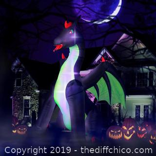 Holidayana 9ft Inflatable Halloween Dragon (J25)