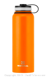 WINTERIAL 40OZ STAINLESS STEEL WATER BOTTLE - ORANGE (J87)