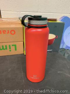 WINTERIAL 40OZ STAINLESS STEEL WATER BOTTLE - RED (J88)