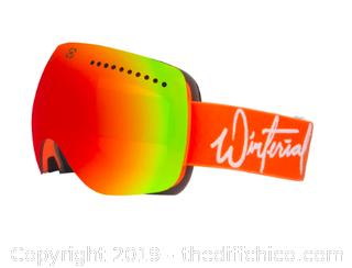 WINTERIAL SKI AND SNOWBOARD GOGGLES WITH QUICK CHANGE MAGNETIC LENS (J89)