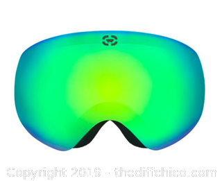WINTERIAL GLOBE SKI AND SNOWBOARD GOGGLES WHITE (J90)