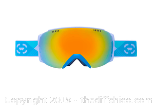 WINTERIAL FRAMELESS SKI & SNOWBOARD GOGGLES WITH CASE - TEAL (J91)