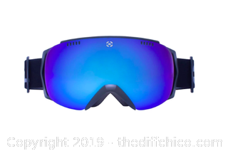 WINTERIAL FRAMELESS SKI & SNOWBOARD GOGGLES WITH CASE - BLACK (J92)