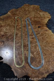 2 Costume Jewelry Necklaces