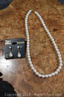 Pearls and Earrings