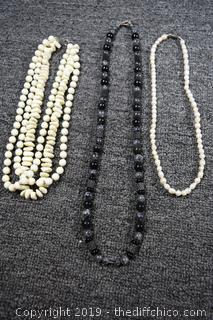 3 Costume Jewelry Necklaces