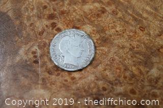 1910 s Dime 90% Silver