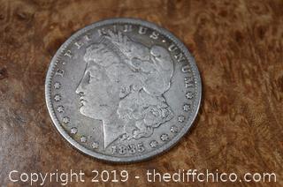 1885 Morgan Silver Dollar 90% Silver