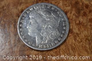 1882 Morgan Dollar 90% Silver