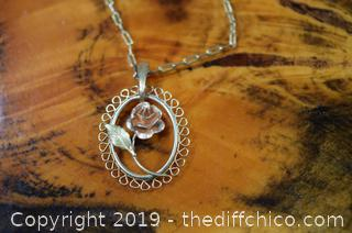 Rose Necklace and Chain