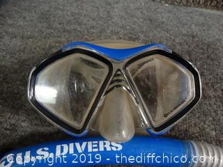 US Diver Mask And Snorkel