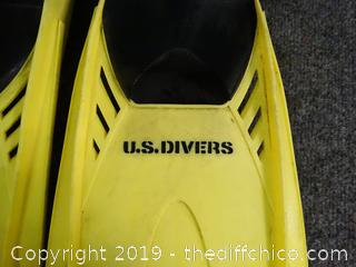 US Divers Fins 10-11
