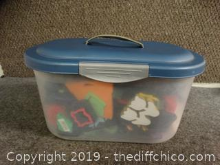 Sterilite Container With Stamps